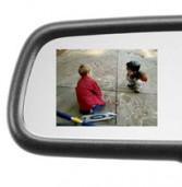 פינת הרכב השבועית: מראה עם מסך LCD נסתר, המופיע כאשר מעבירים להילוך אחורי