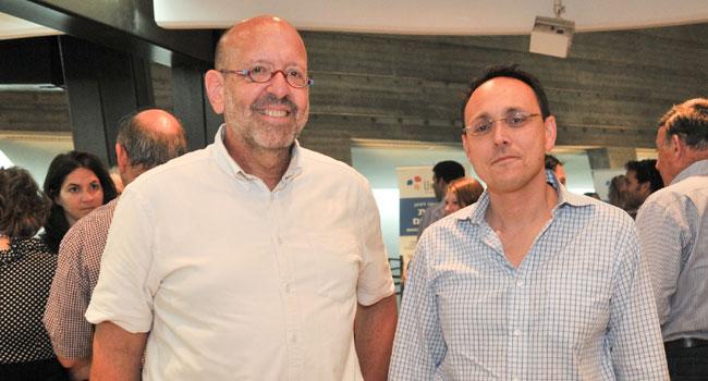 """מימין: נעם קנטי - שותף בארנסט אנד יאנג ישראל, ואיתן לומברד - מנכ""""ל סנסקום. צילום יח""""צ: דפנה גזית"""