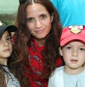 עם הילדים בספארי