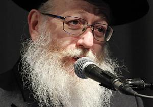 """סגן שר הבריאות, הרב יעקב ליצמן. צילום: קובי קנטור ז""""ל"""