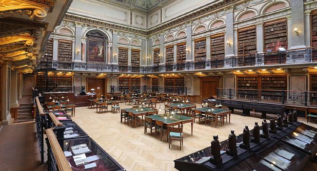 במקום השלישי: ספריית אוניברסיטת Eötvös Loránd בבודפשט, הונגריה. צלם: Thaler