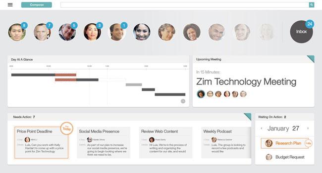 כך זה נראה: צילום מסך מתוך הפלטפורמה החדשה, IBM Mail Next