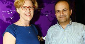 יואב צרויה, שותף ב-JVP CyberLabs, ופיונה דרמון, סגנית נשיא קשרי משקיעים ופיתוח עסקי ב-JVP - שניהם נמנים על בוגרי תוכנית קלוג-רקנאטי