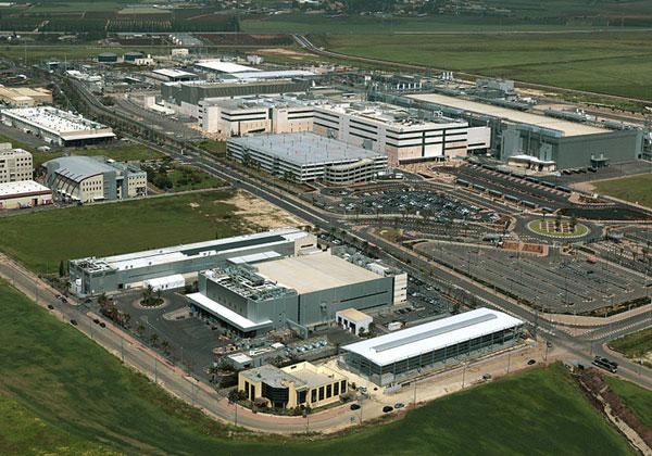 מפעל אינטל בקריית גת. צילום: ארכיון קריית גת, מתוך ויקיפדיה