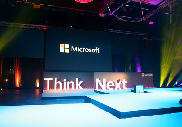 Think Next 2015. צילום: עמוד הפייסבוק של מיקרוסופט