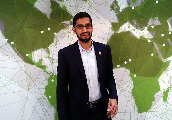 """סונדאר פיצ'אי, מנכ""""ל גוגל - ועכשיו גם אלפבית. צילום: מאוריציו פסקה, מתוך ויקיפדיה"""