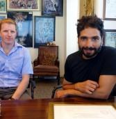 באו לבקר במאורת הנמר: סאבו דיאב, מנהל השיווק העולמי של Infinidat, ודן שפרונג, מנהל המכירות לישראל ולדרום אפריקה