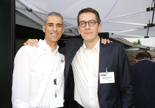 """מימין: בנג'מין ג'וליבט, מנהל אזור דרום אירופה בסיטריקס; וארז גולדשטיין, מנכ""""ל אינטגריטי תוכנה"""