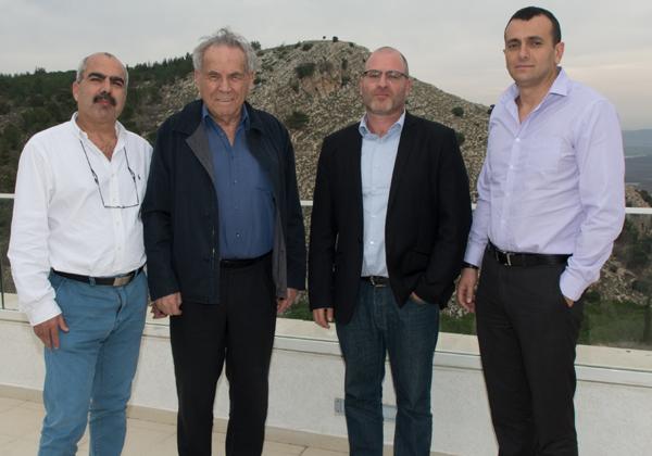 """מימין: שי באב""""ד, מנכ""""ל משרד האוצר; פז הירשמן, מנכ""""ל משותף של צופן; סטף ורטהיימר; וסאמי סעדי, מנכ""""ל משותף של צופן"""