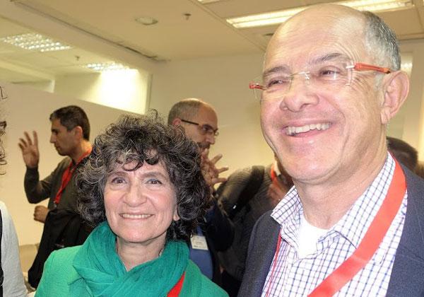 """מימין: דיוויד אסיא, חבר נשיאות איגוד תעשיות האלקטרוניקה והתוכנה, ואלה מטלון, מנכ""""לית פורום MIT"""