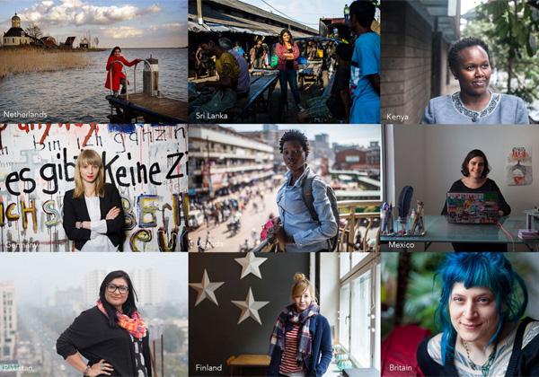 טכנולוגיה בידי הנשים. פרויקט Shine The Light. צילום: טוויטר