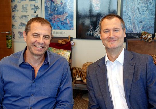 באו לבקר במאורת הנמר: מרטין פיגרמן, מנהל השותפים וערוצי ההפצה של NetSuite באזור EMEA, ורומן מיטשל, ראש חטיבה ומנהל פעילות NetSuite ב-One1