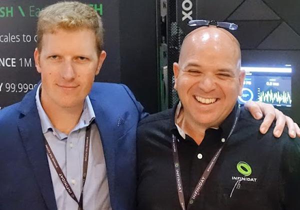 """אורן ישרים, מנהל פעילות ישראל, ודן שפרונג, סמנכ""""ל מכירות EMEA ב-INFINIDAT"""