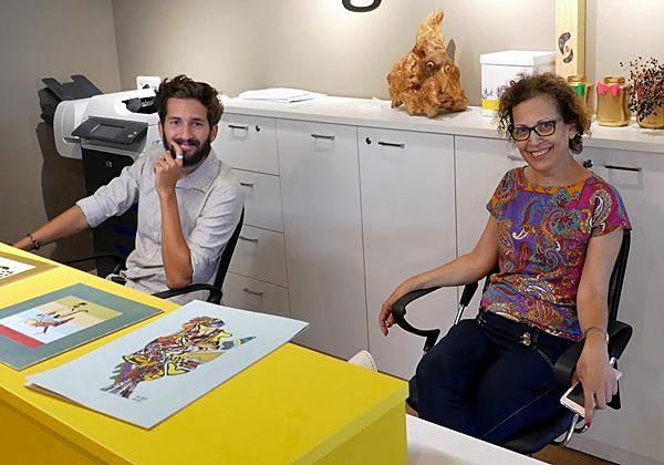 מרטה טלמור, מעצבת המתחם, וברק טלמור, מנהל שירות הלקוחות