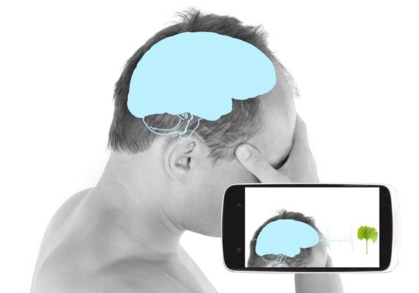 האם הסמארטפון פועל על המוח שלנו ומסייע לטיפול בדיכאון? צילום אילוסטרציה: BigStock