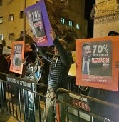 פעילים נגד המאגר הביומטרי הפגינו מול ביתו של השר דרעי