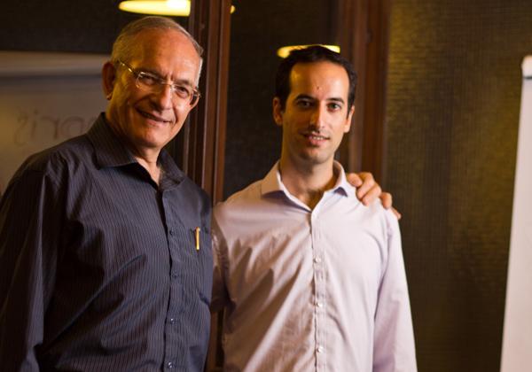 "מימין לשמאל: ניסן ירון ובן-עציון ירון, מייסדי אינפריס. צילום: יח""צ"