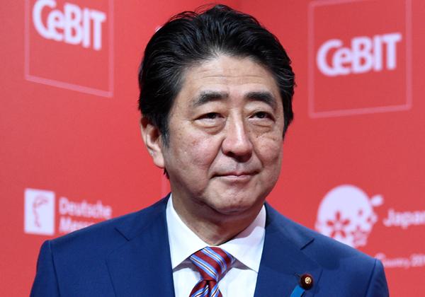 """שינזו אבה, ראש ממשלת יפן. צילום: יח""""צ CeBIT 2017"""
