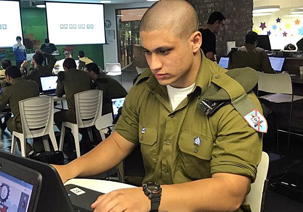 """אחד החיילים שהשתתפו ב-Skillz. צילום: דובר צה""""ל"""