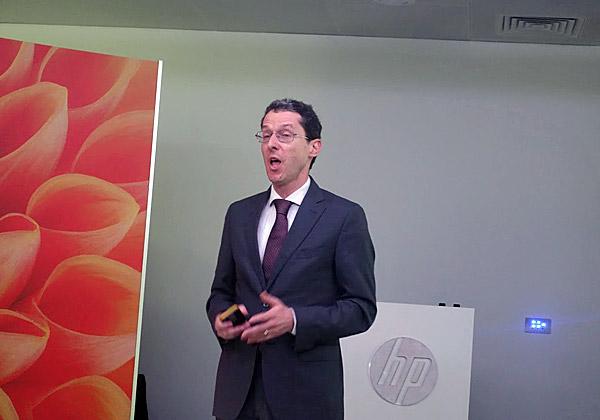"""דיוויד ריאן, סגן נשיא בכיר ומנכ""""ל הדפסה לאזור EMEA ב-HP. צילום: פלי הנמר"""