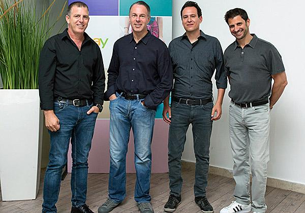 מימין: דן טרמן, אלעד גולדנברג, דווין וניג ויובל מטלון. צילום: ענבל מרמרי