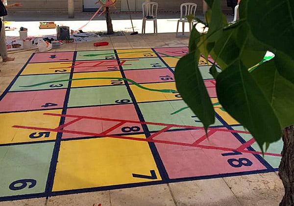משחק הסולמות והחבלים שפותח במסגרת האירוע. צילום: דוברות עיריית תל אביב-יפו