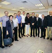משלחת סינית בכירה התארחה בהיי סנטר ונצ'רס בחיפה