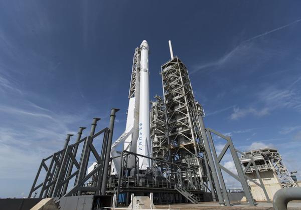 הרקטה פלקון 9 של SpaceX שנשלחה למשימה בתחנת החלל הבינלאומית ביוני השנה. מקור: SpaceX