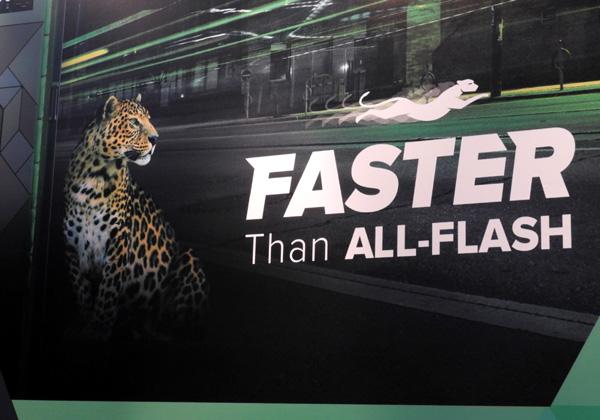 """דמות הפנתר בקמפיין """"מהיר יותר מ-All Flash"""" בביתן Infinidat"""