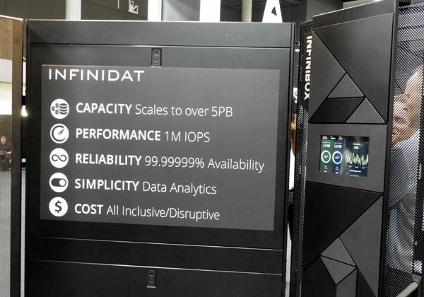 היכולות של פתרון אחסון הנתונים, ה-InfiniBox