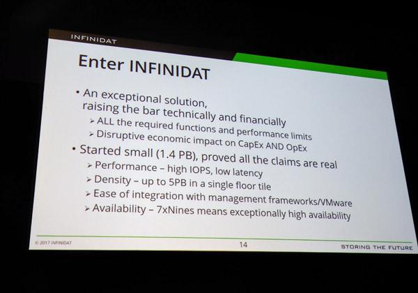 השורה התחתונה - מה הפתרון של Infinidat מעניק לאמדוקס. צילום: פלי הנמר