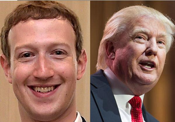 האם יש הסכם ביניהם? דונלד טראמפ ומארק צוקרברג. צילומים: BigStock וממשלת מקסיקו, מתוך ויקיפדיה