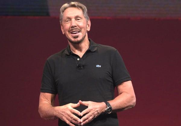 """""""לכלך"""" רבות על אמזון. לארי אליסון, מנהל טכנולוגיות ראשי ויו''ר ומייסד אורקל. צילום: יח""""צ"""