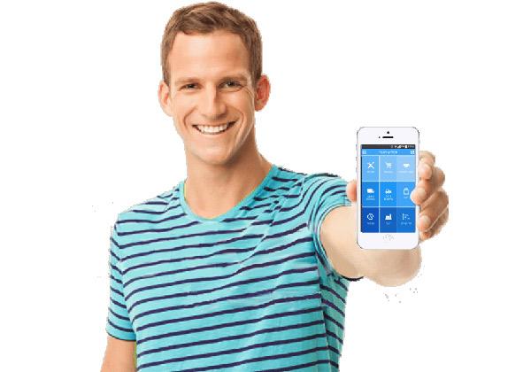 """כל פעולה נדרשת - באמצעות אפליקציה נוחה וידידותית בסמארטפון. צילום: יח""""צ"""
