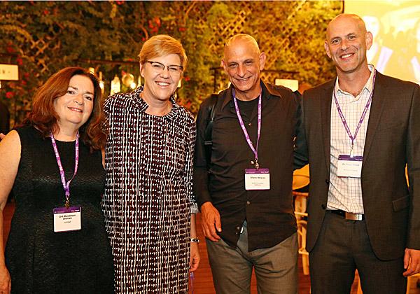 """מימין: ד""""ר יובל קליש, אהרון אהרון, פיונה דרמון ואורית מנדלסון שהם. צילום: יעל צור"""