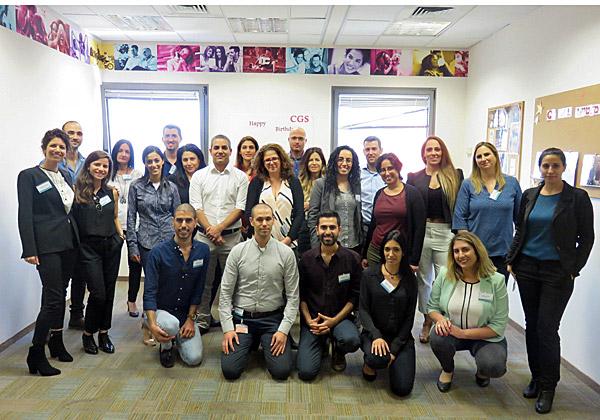 """תמונה קבוצתית של מנהלי המוקדים שהשתתפו במפגש ב-CGS ישראל. צילום: יח""""צ"""