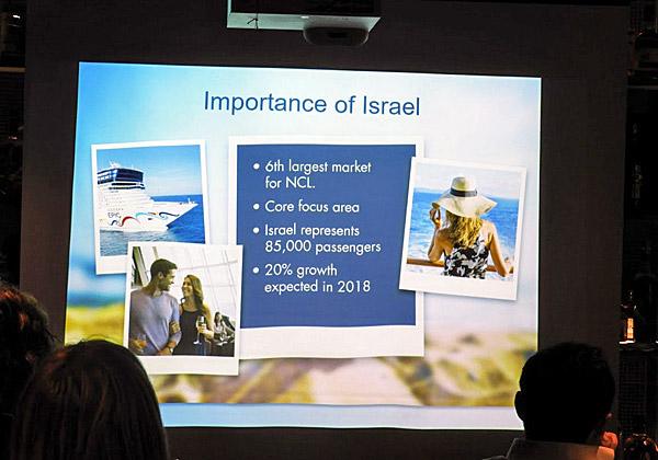 החשיבות של ישראל עבור NCL. צילום: פלי הנמר