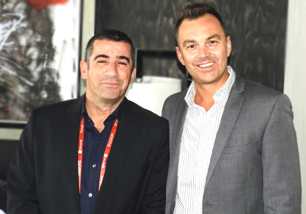 מארק נאט, סגן נשיא בכיר בווריטאס לאזור EMEA, ואילן משעלי, מנכ״ל וריטאס ישראל. צילום: פלי הנמר