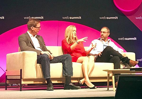 מימין: רונן אסיא, מייסד שותף וסמנכ״ל מוצר ב-eToro הישראלית, ורבקה לין, מייסדת שותפה ב-Canvas Ventures, וג׳וש בוטומלי, ראש תחום הדיגיטל ב-HSBC. צילום: ביג-בן פלד