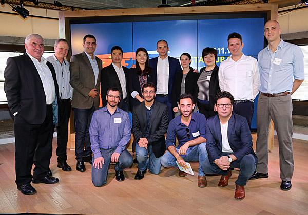 בתמונה: נציגי הסטארט-אפים שנבחרו לאקסלרטור, ובכירים ממשרד הכלכלה, מ-Shengjing Group ומ–DayDayUp. צילום: עזרא לוי