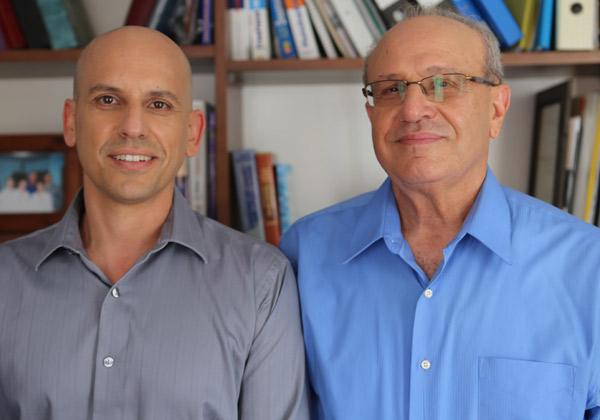 """מייסדי TheraPee, מימין: ד""""ר קובי שגיא וטל שגיא. צילום: יח""""צ"""