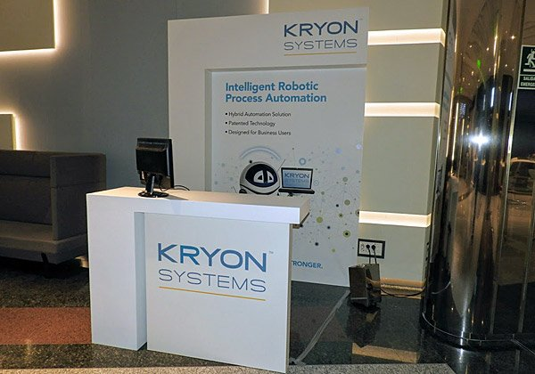 התצוגה של Kryon Systems בכנס של Software AG. צילום: פלי הנמר
