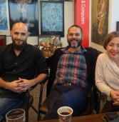 באו לבקר במאורת הנמר: אסף בר, לאה המאירי ואריאל עוז מאיטרניטי מקבוצת אמן