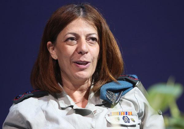 אל''מ טליה גזית, מפקדת ממר''ם שבאגף התקשוב. צילום: ניב קנטור