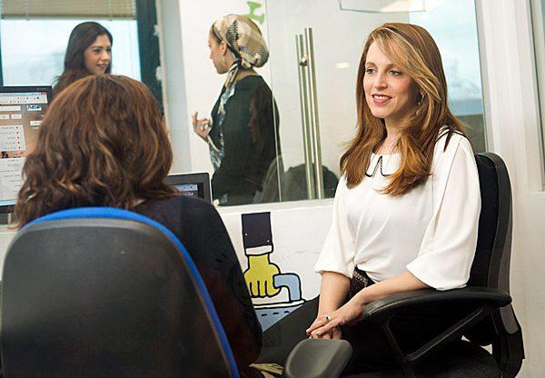 """רחלי גנות, מנכ""""לית רייצ'יפ (בחולצה הלבנה). צילום: תומי הרפז"""