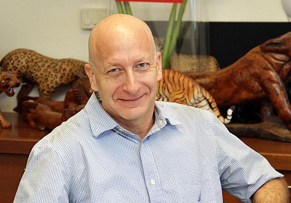 """אופיר בר און, סמנכ""""ל השיווק והפיתוח העסקי של אלעד מערכות. צילום: יניב פאר"""