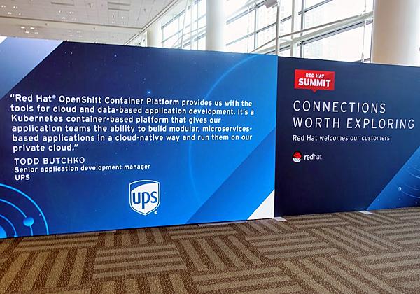 יהללוך לקוחותיך ולא אתה. והנה, דבר הלקוח UPS, המשבח את פלטפורמת הקונטיינרים של רד-האט. צילום: פלי הנמר