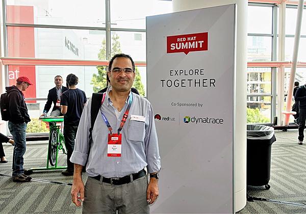 נצפה משתתף בכנס: ערן מנצור, מנהל פתרונות רד-האט באגף מוצרי התוכנה של מטריקס. צילום: פלי הנמר
