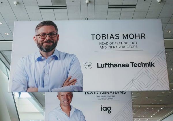 לופטהנזה טכניק, חברה תשתיות ה-IT של חברת התעופה, זכתה במהלך הכנס באות המיישמת המצטיינת. צילום: פלי הנמר