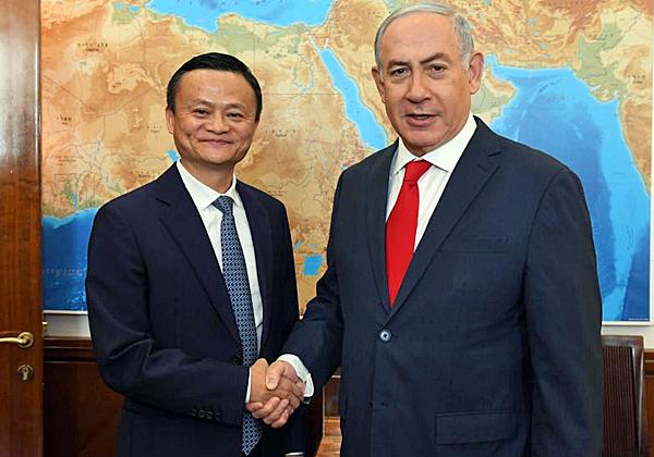 """ראש הממשלה, בנימין נתניהו, בפגישתו עם מייסד עליבאבא, ג'ק מא. צילום: חיים צח, לע""""מ"""